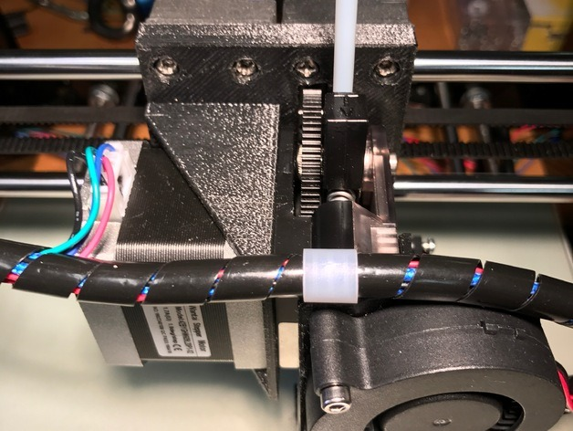 Titan extruder mounted on an a8 anet to print flexible filaments