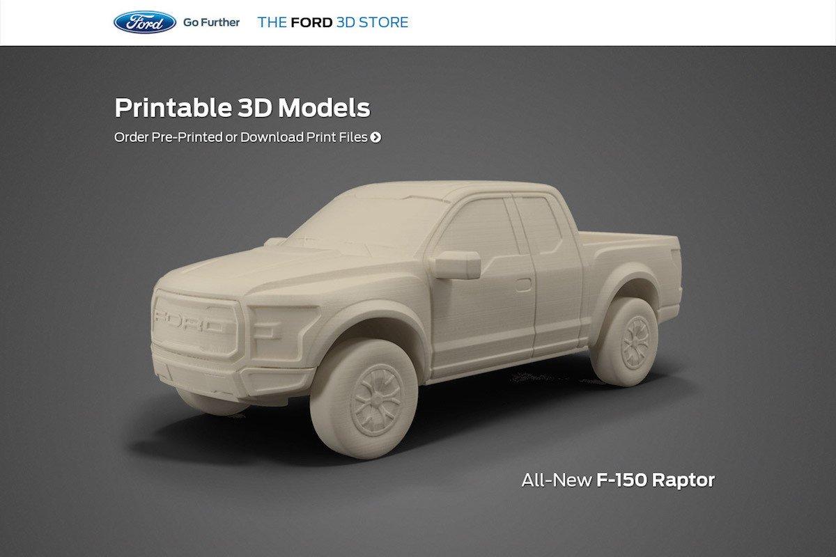 Modelo Ford listo para imprimir