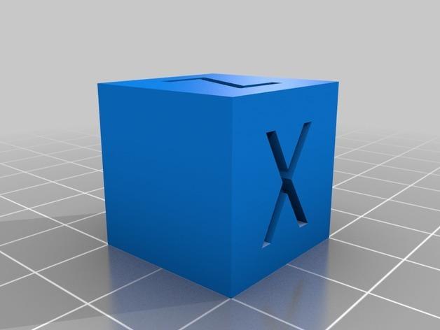 Cubo de calibracion de impresora 3d